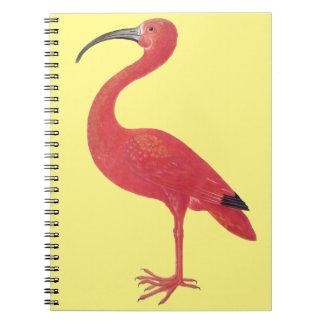 Rosa Flamingo - Kunst-Notizbuch Notizblock
