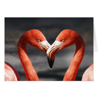 Rosa Flamingo-Liebe-Gruß-Karte Karte