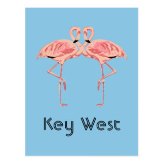 Rosa Flamingo-Paare Key Wests Florida Postkarte