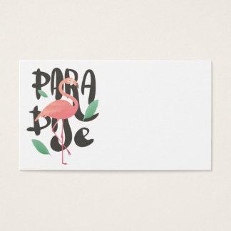 Rosa Flamingo-Paradies-Druck Visitenkarte