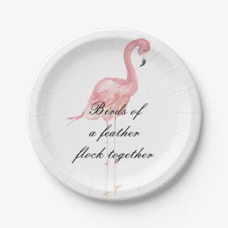 Rosa Flamingo-Party-Papier-Teller Pappteller