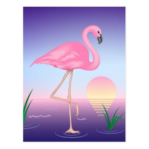 Rosa Flamingo Postkarten