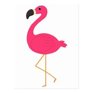 Rosa Flamingo Postkarte