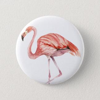 Rosa Flamingo Runder Button 5,7 Cm