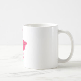 Rosa Flamingo-Silhouette Kaffeetasse