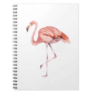 Rosa Flamingo Spiral Notizblock