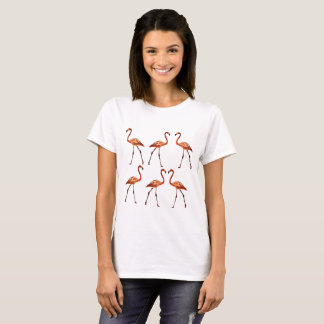 Rosa Flamingo-T - Shirt, weiß T-Shirt