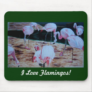 Rosa Flamingo-tropisches Mauspads