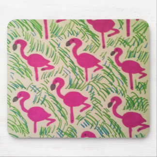 Rosa Flamingo-tropisches Muster Mousepads