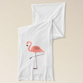 Rosa Flamingo-Vogel-Illustration Schal