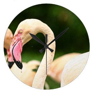 Rosa Flamingo-Wanduhr Große Wanduhr