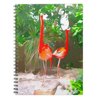 Rosa Flamingos in Key West Notizblock