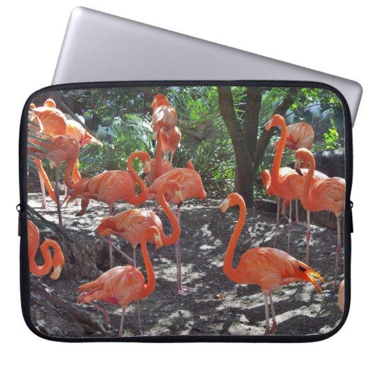 Rosa Flamingos Laptop Sleeve