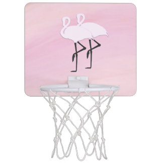 Rosa Flamingos Mini Basketball Ring