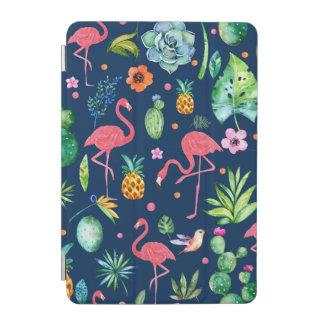 Rosa Flamingos u. tropisches buntes Muster iPad Mini Hülle