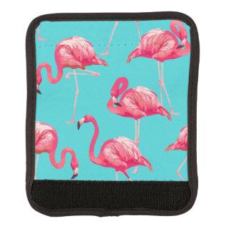 Rosa Flamingovögel auf Türkishintergrund Gepräckgriffwickel