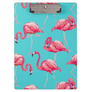 Rosa Flamingovögel auf Türkishintergrund Klemmbrett