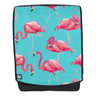 Rosa Flamingovögel auf Türkishintergrund Rucksack