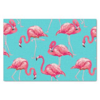 Rosa Flamingovögel auf Türkishintergrund Seidenpapier