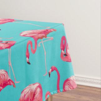 Rosa Flamingovögel auf Türkishintergrund Tischdecke