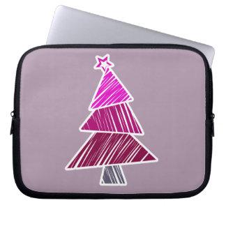 Rosa flüchtige Weihnachtsbaum-Hülse Laptopschutzhülle