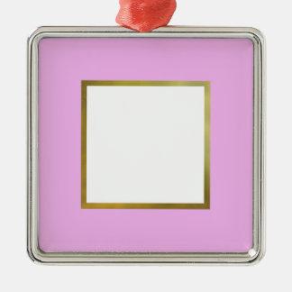 ROSA FOTO-PORTRÄT-RAHMEN, GOLDrahmen, GEWOHNHEIT Silbernes Ornament