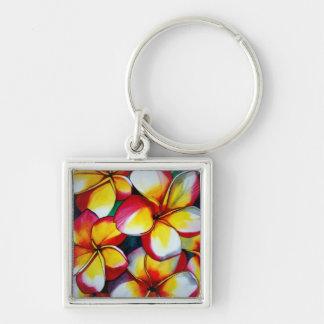 Rosa Frangipani-Blume durch Sacha Grossel Kunst Schlüsselanhänger