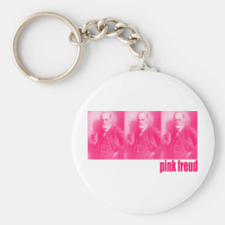 Rosa Freud Standard Runder Schlüsselanhänger
