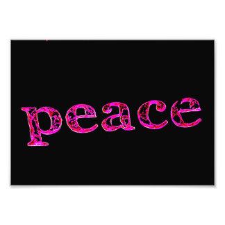 rosa Frieden auf Schwarzem Kunstfotos