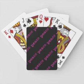 rosa Friedensschwarzes Spielkarten