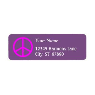 Rosa Friedenszeichen auf lila kundenspezifischem