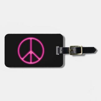 Rosa Friedenszeichen Gepäckanhänger