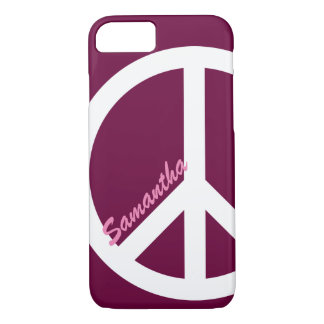 Rosa Friedenszeichen iPhone 7 Fall iPhone 8/7 Hülle