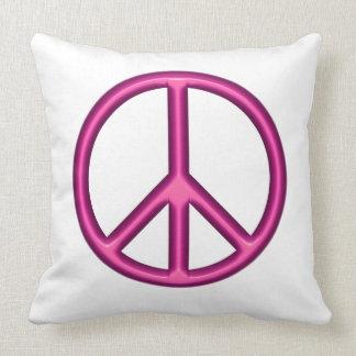 Rosa Friedenszeichen Kissen