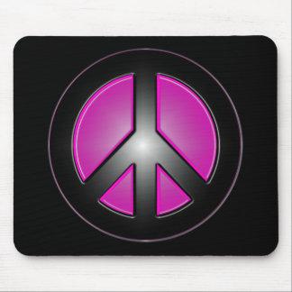 rosa Friedenszeichen Mauspad