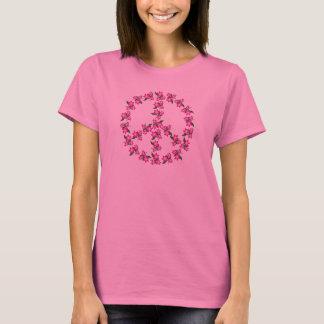 Rosa Friedenszeichen-T - Shirt - anderes färbt