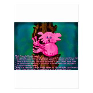 Rosa friedliches Treehugger Postkarte
