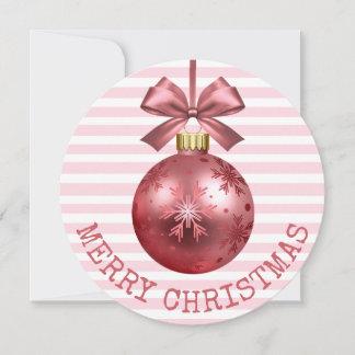Rosa frohe Weihnacht-personalisierte Karte