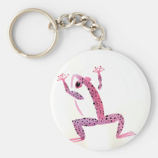 Rosa Frosch Schlüsselanhänger