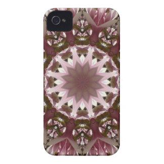 Rosa Frühling blüht 1,3, BlumenMandalaart iPhone 4 Hülle