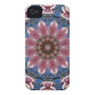 Rosa Frühling blüht 2.2.2, Natur-Mandala Case-Mate iPhone 4 Hülle