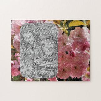 Rosa Frühlings-Blume blüht Ihr Foto Puzzle