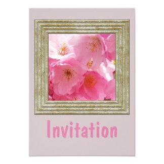 Rosa Frühlings-Blüten Karte