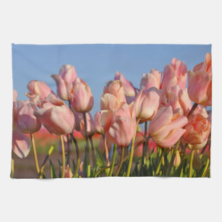 Rosa Frühlingstulpen Handtuch