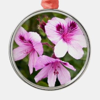 Rosa Frühlingszauber Rundes Silberfarbenes Ornament