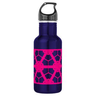 Rosa Fuschia Muster-Strandgammler Trinkflasche