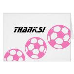 Rosa Fußball Ball-Dank! Grußkarten