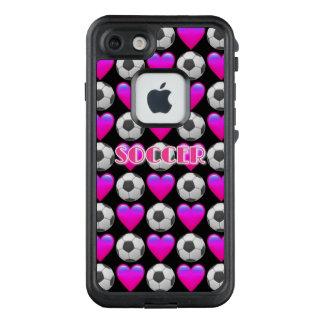 Rosa Fußball Emoji FRĒ® für Apple iPhone 7 LifeProof FRÄ' iPhone 8/7 Hülle