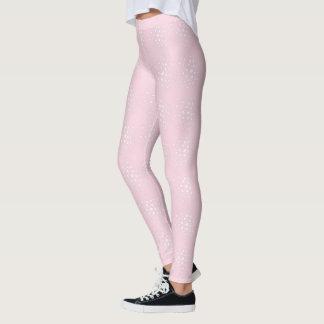 Rosa Gamaschen Leggings