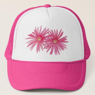 Rosa Gänseblümchen-Blumen Truckerkappe